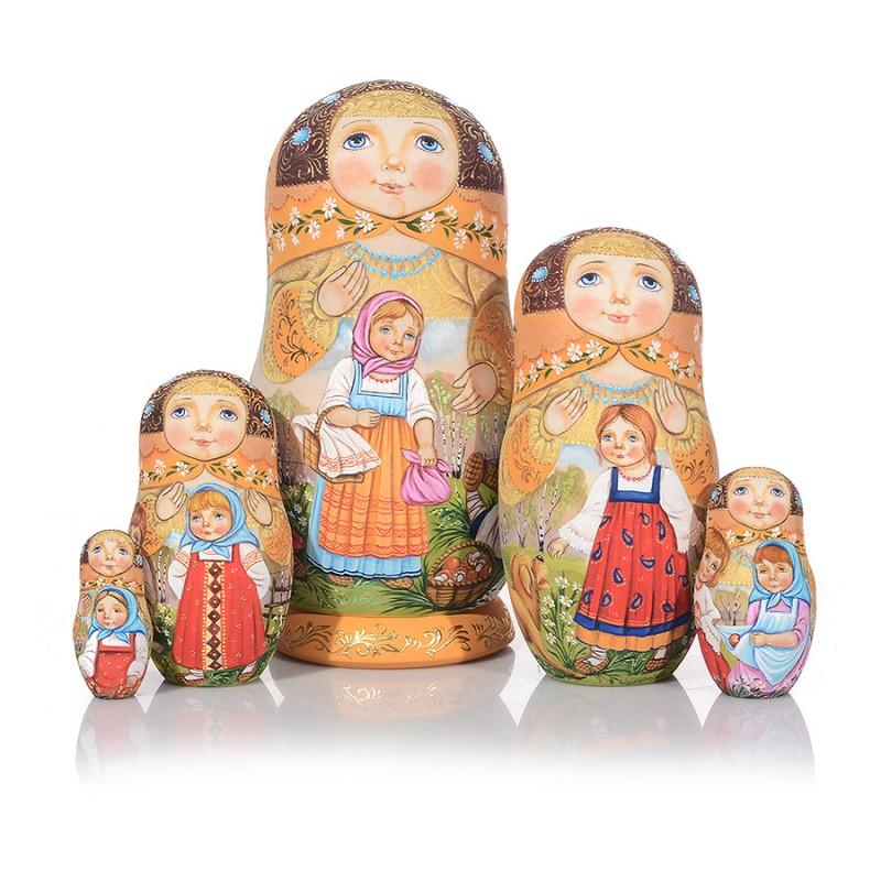 Россия Матрешка 5 мест Дети авт.Сидорова