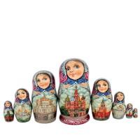 Россия Матрешка 8 мест Москва авт.Маметьева (лачка) 19см(1338994) обувница иртыш 8 москва