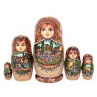 Россия Матрешка Лубок 5 мест 4