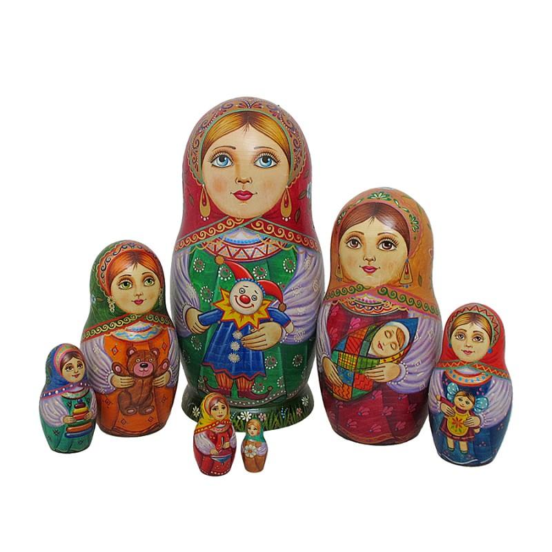 """Матрешка 7 мест """"с Куклой"""" от Наследие"""
