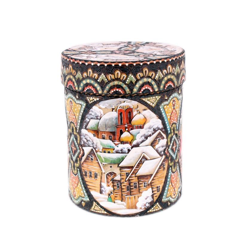 Бочонок универсальный Москва (жж.цв.резьба) h=15см d=12см конфетница h 9см d 15см