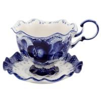 чайная пара Снежинка гжель чайная пара asa selection a table 1912 013