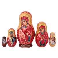 Матрешка Религия. Богородица 15 см 3 икона янтарная богородица скоропослушница кян 2 305