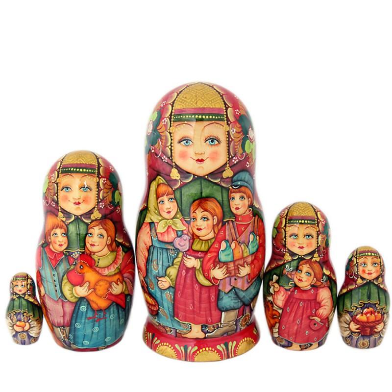 Матрешка Дети 5 мест