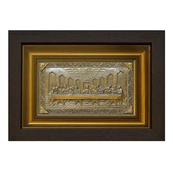 """12-087-2 Картина из металла """"Тайная вечеря"""" малая с золочением от Наследие"""