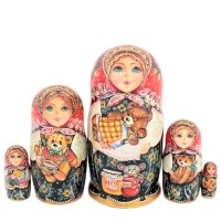 Россия Матрешка 5 мест Игрушки 16см