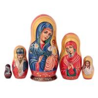 Матрешка Религия. Богородица Казанская 19 см икона янтарная почаевская богородица