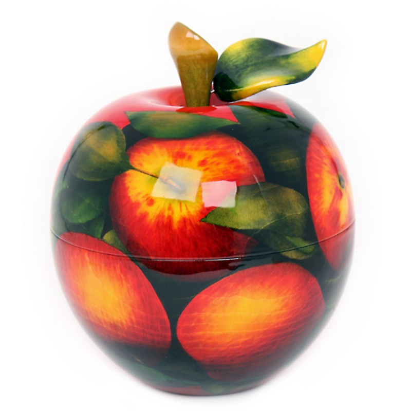 Шкатулка - яблоко (роспись яблоко)