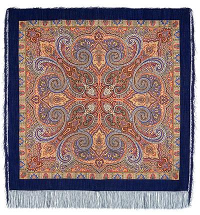 Павловопосадский платок шерстяной с шелковой бахромой Классический, 125х125 см