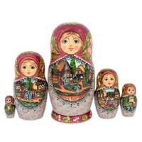 Россия Матрешка Лубок 5 мест 5