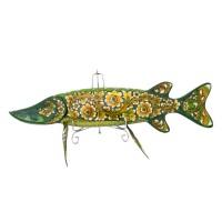 Панно настенное Рыба щука Хохлома