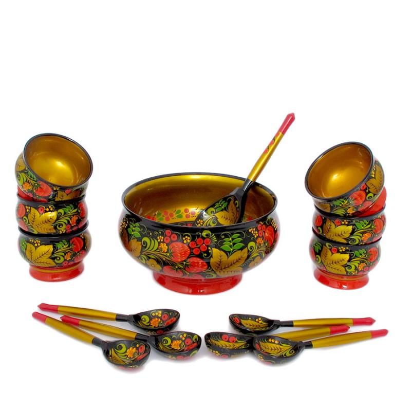 Россия 64190000014 Набор для варенья 14п ложка для варенья древесник 26 см