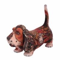 Скульптура-шкатулка Собака Бассет (дерево) мягкая игрушка собака бассет хаунт