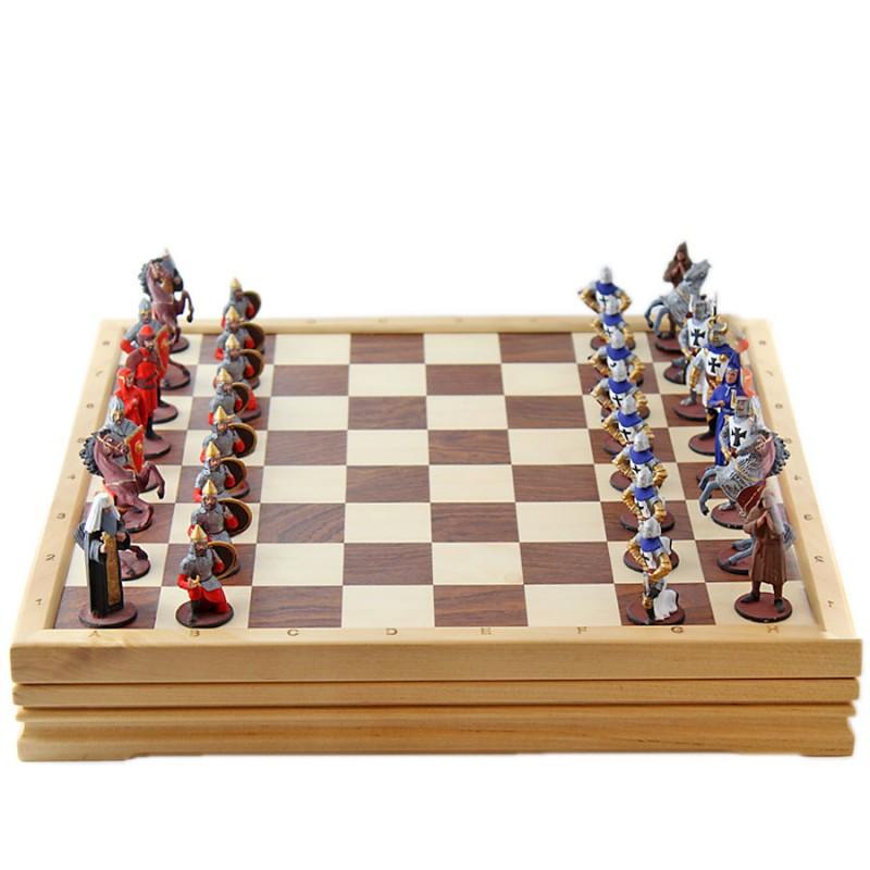Шахматы Ледовое побоище олово