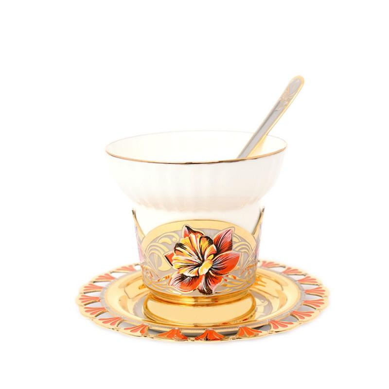 910-2 Чашка с блюдцем, ложка Нарцис