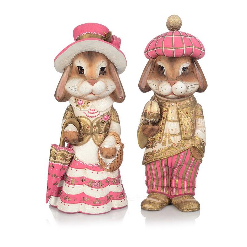 "Композиция из дерева ""Кролики"" (пара) от Наследие"