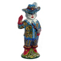 Скульптура Кот-мушкетер россия скульптура кот гармонист