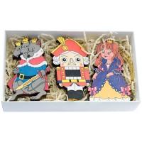 набор елочных игрушек Щелкунчик елочные украшения ewa eco wood art набор елочных игрушек комплект