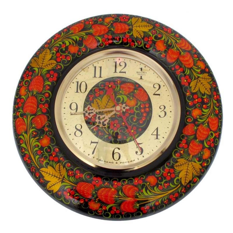 00011 Часы Весна (Хохлома)