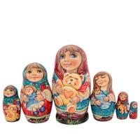Россия Матрешка Девочка 6 мест 1