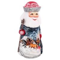 Скульптура из дерева Дед мороз (тройка) украшение новогоднее оконное magic time дед мороз с самоваром двустороннее 30 х 32 см
