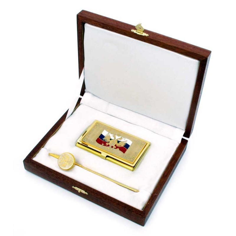 Россия Визитница, закладка д/книг (с символикой РФ) закладка для книг колокольчик