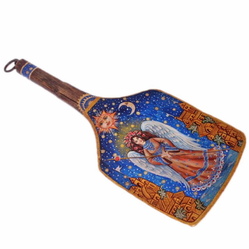 Лопата Ангел сказки дерева подвеска ангел на луне