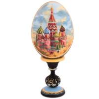 ЯЙЦО МОСКВА НА ПОДСТАВКЕ_круговое яйцо на подставке воскресение христово дерево