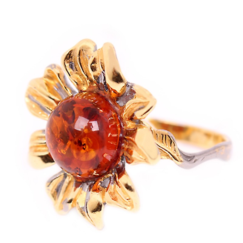 820921 Кольцо Ag925 янтарь р/п (5,14) кольцо шедевр им янтарь