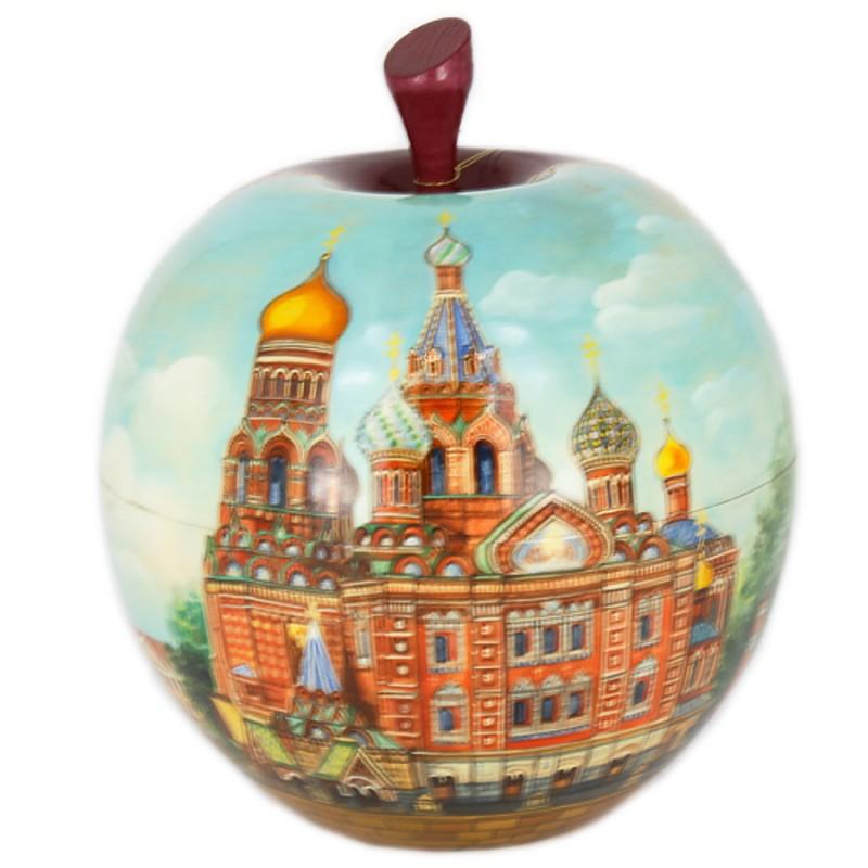 Россия Шкатулка-Яблоко Санкт-Петербург шкатулка ювелирная санкт петербург